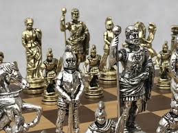 roman metal chess set 0 1278 426100