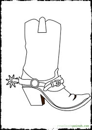 cowboy boots coloring pages print coloring pages 21992