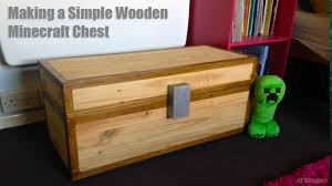 Making A Toy Chest From Wood by How To Make A Real Wooden Minecraft Chest Youtube