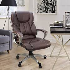 brown leather executive chair ebay