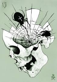 spider web design skull tattoos spider web