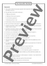 the scientific method u2013 worksheet good science worksheets