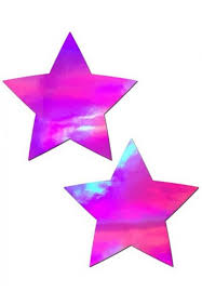 led light up pasties pink holographic star pasties covers from raveready