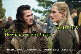 Legolas Memes - legolas targets justin bieber but misses the mark legendarium