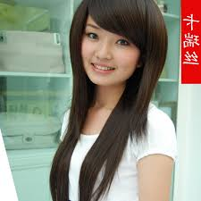layered hairstyle with side bangs korean haircuts black