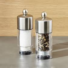 small salt and pepper grinders crate and barrel