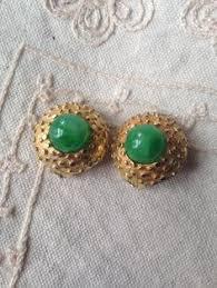 sparkly green earrings green earrings sparkly green earrings green clip on earrings