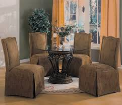 glass parsons dining table furniture inspiring dining room decoration using light brown fabric