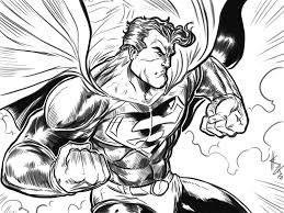 superman action sketch by elvinhernandez on deviantart