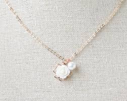 white rose necklace images White rose necklace etsy jpg