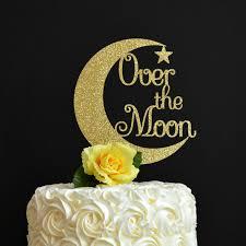 moon cake topper the moon cake topper glitter cake topper nursery