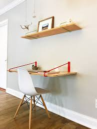 Floating Desk Diy Floating Hairpin Desk Brackets 22 Desk Colored Or Steel