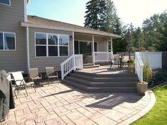 Deck Patio Designs by Deck And Patio Design With Inbuilt Hearth Pit In Hawthorn Woods