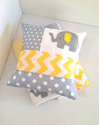 Yellow Baby Room by Elephant Baby Crib Quilt And Pillow In Yellow And Gray Ready