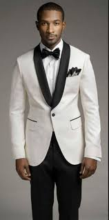 top selling new white jacket and black satin lapel groom u0027s best