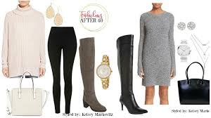 tasteful ways to wear over the knee boots after 40 fabulous after 40