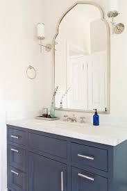 Mirrors For Bathroom Vanity Bathroom Shelves Blue Bath Vanity Nickel Pulls Silver Leaf