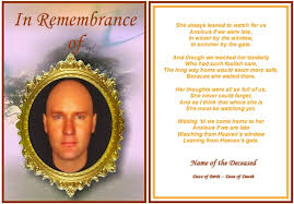 funeral announcement template images
