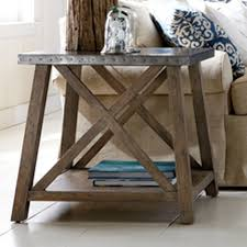 Wood And Metal End Table Shop Living Room Tables Side U0026 Accent Tables Ethan Allen