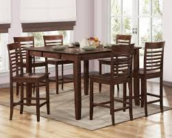 brown espresso modern counter height dining table w options