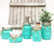mason jar bathroom set mason jars bathroom decor bridal