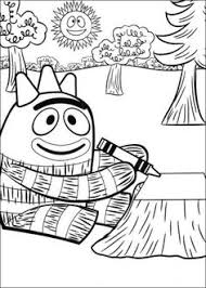 yo gabba gabba coloring sheets landon u0027s birthday