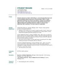 How To Create Job Resume by Resume For A College Student Berathen Com
