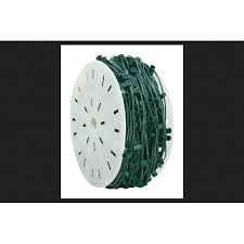 holiday bright lights c9 holiday bright lights c9 socket light cord on reel green 1000 ft