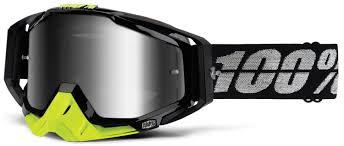 100 racecraft motocross goggles crush 100 crossbrille the racecraft stealth silber verspiegelt 2017
