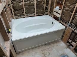 installing a kohler acrylic windwardâ tub k 1113 60 x 42