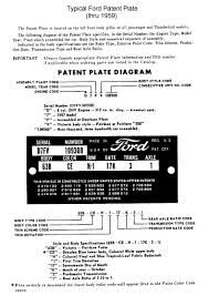1949 to 1953 ford passenger car vin decoding chart