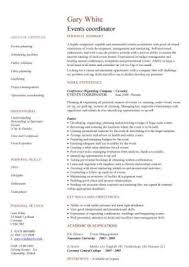 Event Coordinator Resume Template by Event Coordinator Resume Skills Events Coordinator Cv Template