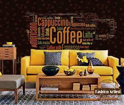 wallpaper coffee design custom vintage coffee wallpaper mural coffee type letter coffee cup
