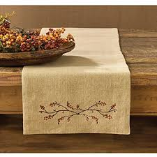 Burlap And Bittersweet 54 Inch Table Runner Continue To The