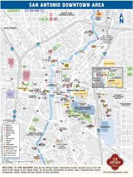 San Antonio Texas Map Downtown San Antonio Map Map Of Downtown San Antonio Texas Usa