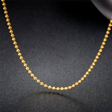 white gold bead necklace images 18k pure gold beads necklace rose white yellow chain real au750 jpg