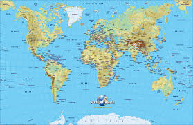 Map Of Globe Map Of World Physical Small Version Map In The Atlas Of The