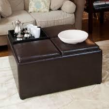 Square Ottoman Coffee Table Living Room Leather Ottoman Coffee Table With Coffee Table