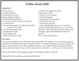Adding Salt To Coffee Coffee Stout Chili Recipe News St Joseph Island Coffee Roasters