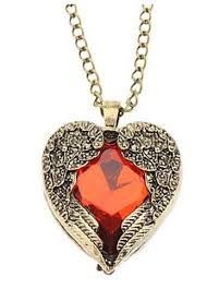 heart necklace red images Buy cinderella red heart pendant necklace for women online at low jpg