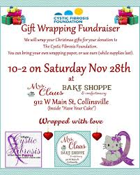 christmas wrapping paper fundraiser gift wrapping fundraiser for cystic fibrosis november 28th