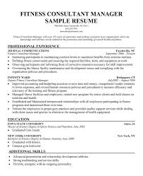 fitness center manager sample resume professional fitness club