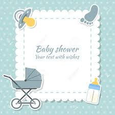 Invitation Cards For Baby Shower Baby Shower Boy Invitation Card Place For Text Greeting Cards