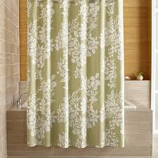 Botanical Shower Curtains Silhouette Print Green Shower Curtain