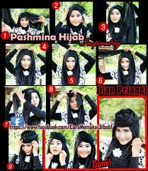 tutorial pashmina dian pelangi out with the old and in with the new elegan pesta tutorial hijab