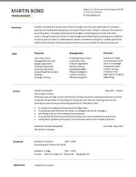 finance resume templates financial cv template business