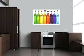 tableau design pour cuisine tableau deco pour cuisine tableau dacco bouteilles faire un