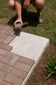 exterior how to install pavers design for modern backyard and