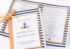 nautical wedding programs wedding programs personalized wedding program books labelsrus