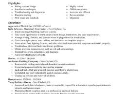 electrical apprentice resume sample acting resume templates by